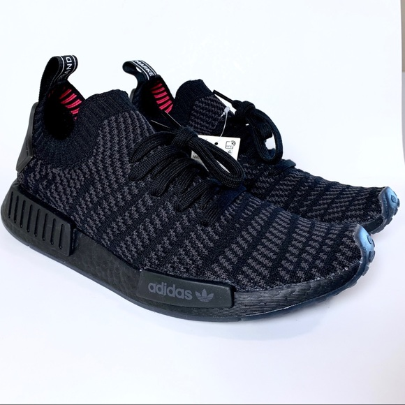 84c3e6a92 Adidas Originals Triple Black NMD R1 STLT PK